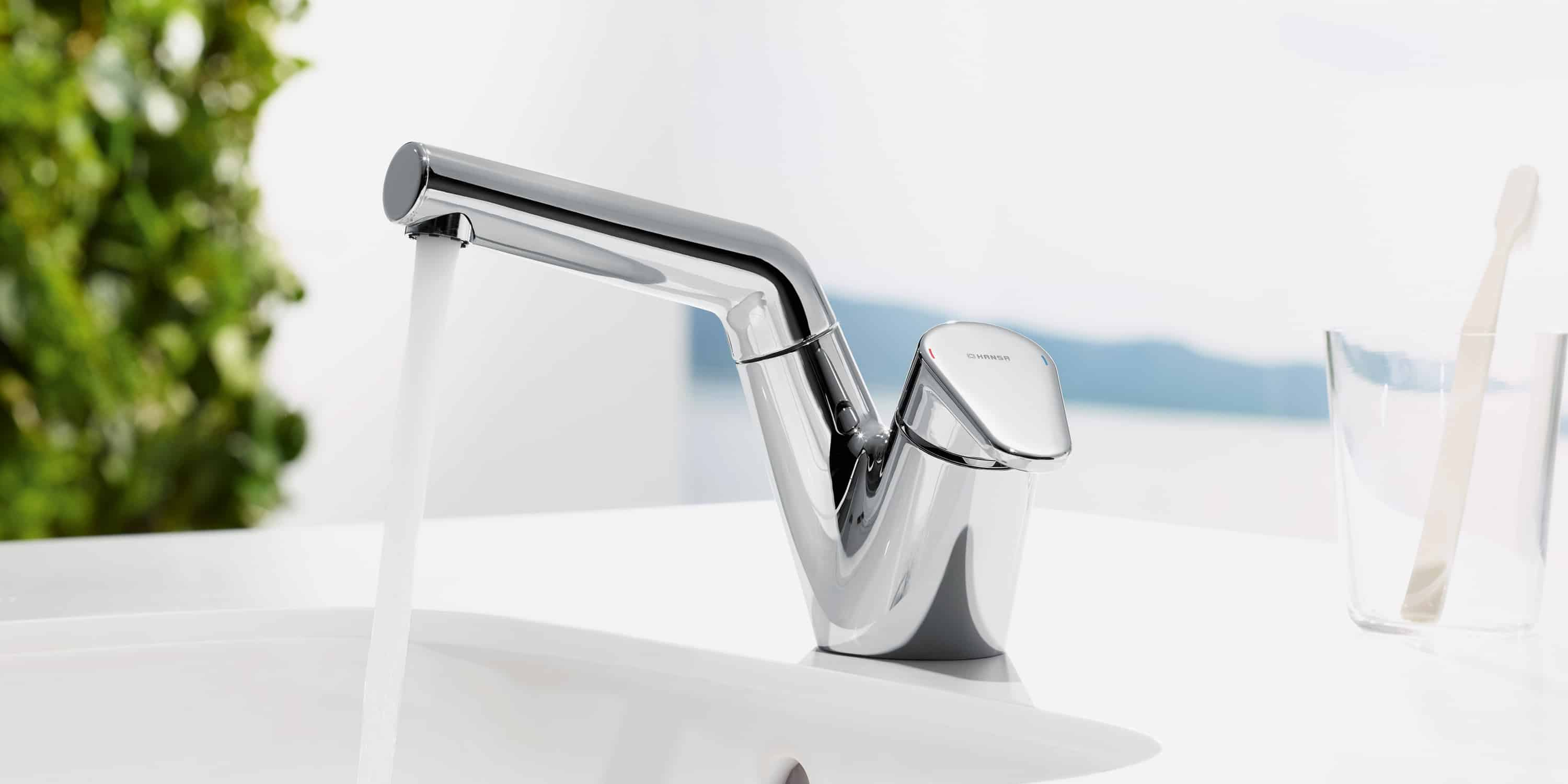 wall trendy ht perfect in benelave with brushed tap original hansa sink neo mounted faucet faucets kitchen price steel double fittings colonial