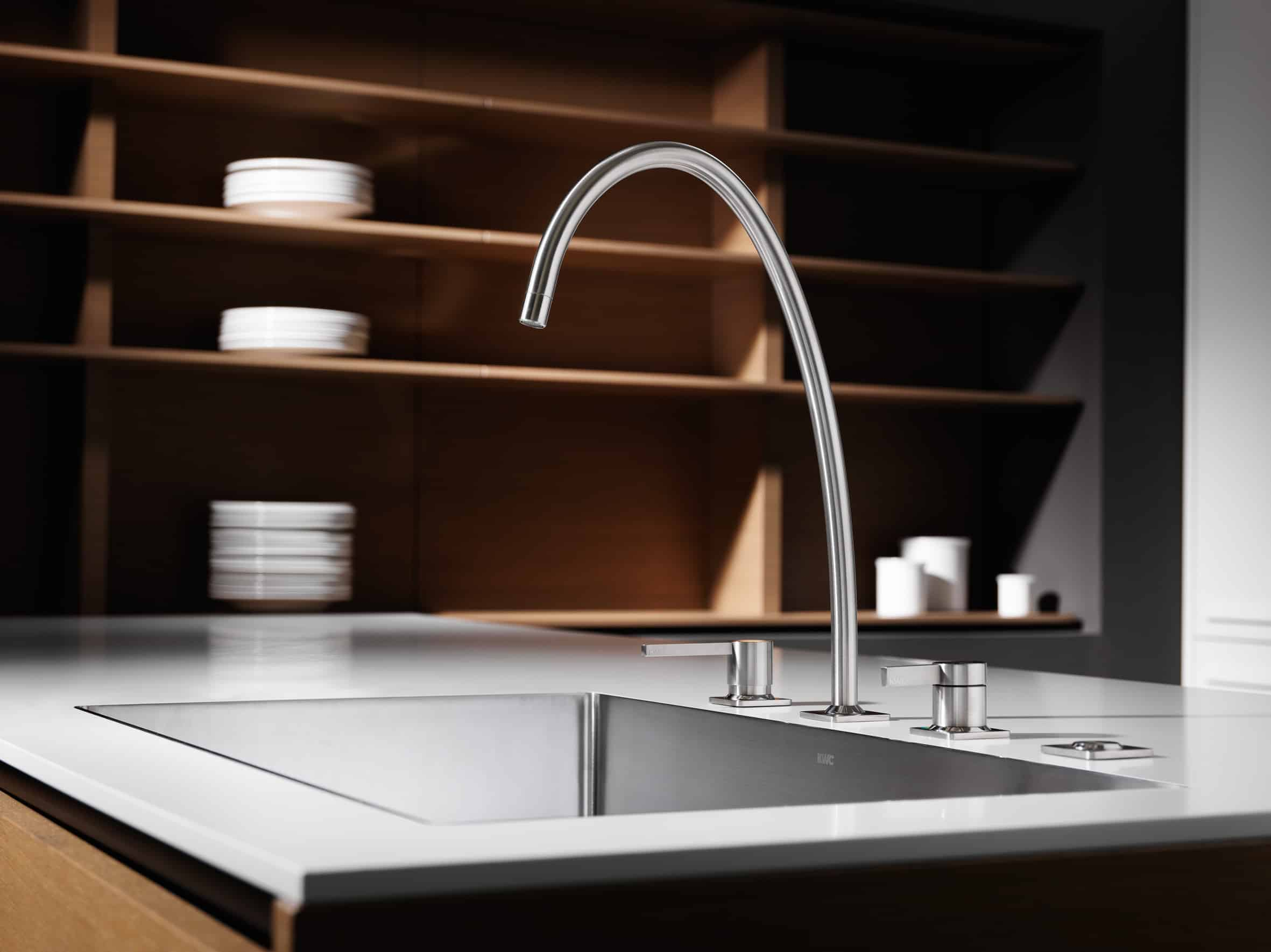 steel benelave original brushed trendy with tap wall kitchen fittings hansa double in faucet neo sink colonial price faucets ht perfect mounted